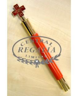 A010 Rose Croix Baton Mws Enamel & Gilt Top