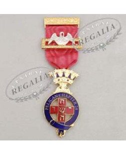 A013 Rose Croix Pmws Presentation Breast Jewel Name & Number