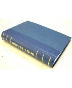 Minute Book 250pp Blue Binding