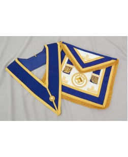 C026 Craft Prov F/d Apron & Collar (incl.  Badge) - Imitation Lambskin