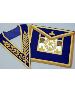 C052 Craft Grand Lodge F/d Apron & Collar Finest Quality