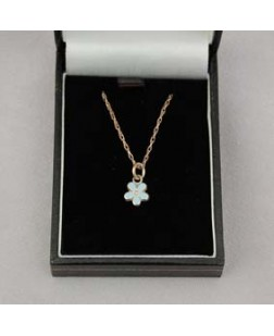 G076 Forget Me Not Necklace Sterling Silver