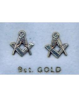 G130 Craft Pierced Earrings 9ct Gold